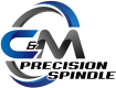 C & M Precision Spindle logo, white background, 105x80