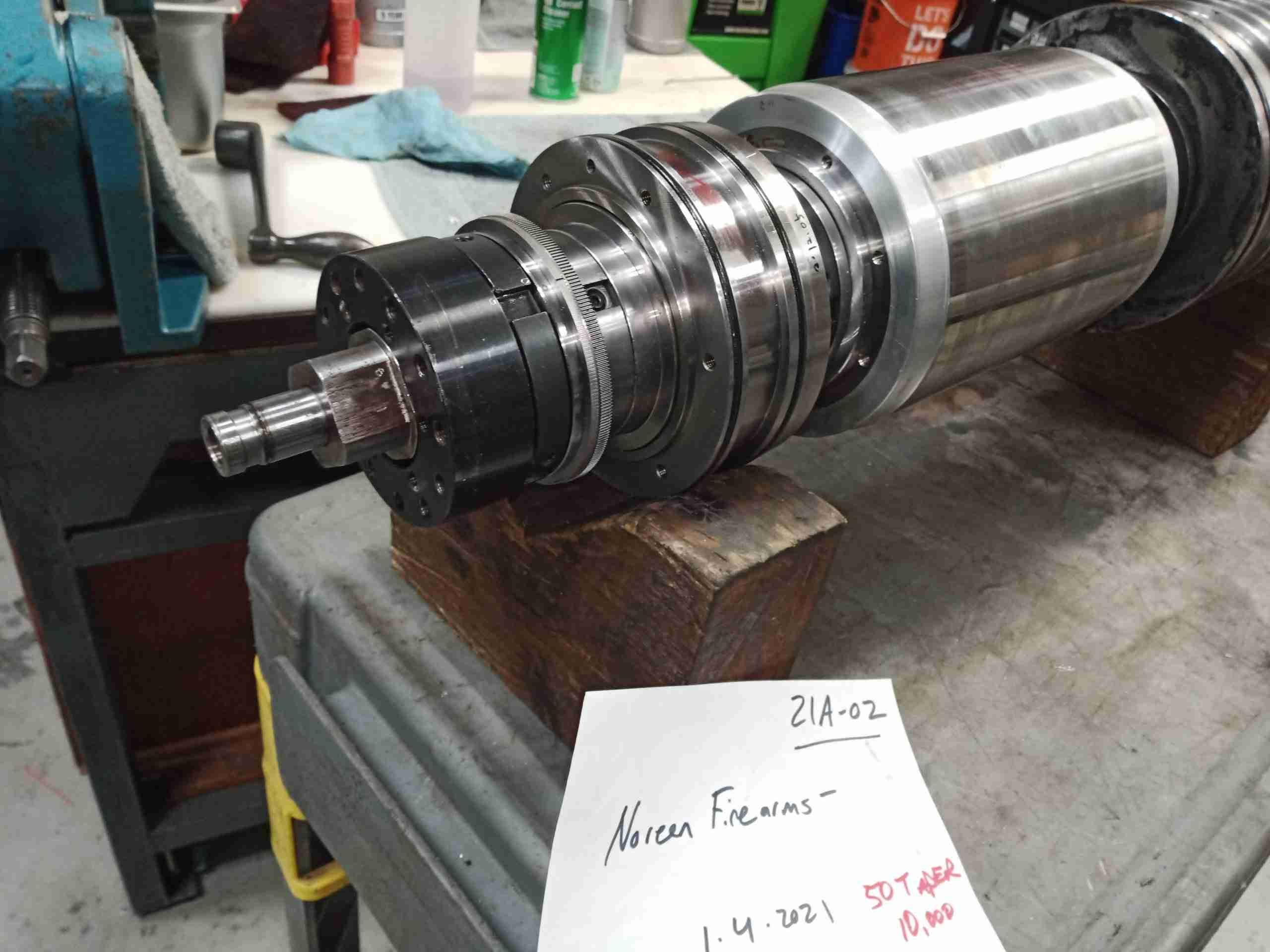 Doosan Spindle ready to be repaired